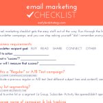 Email Marketing Checklist Cheat Sheet: Free Download