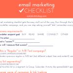Email Marketing Checklist Cheat Sheet: Free Download