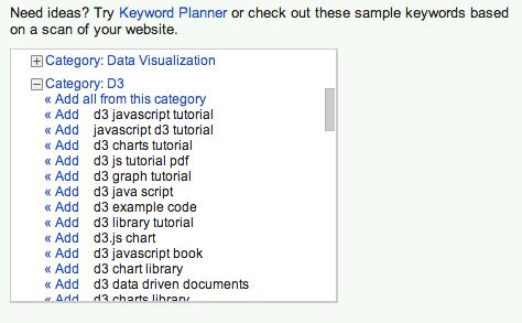 more keyword ideas