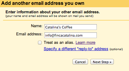 Add an email address Gmail