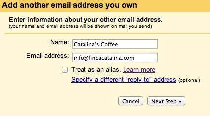 Add an email address Gmail