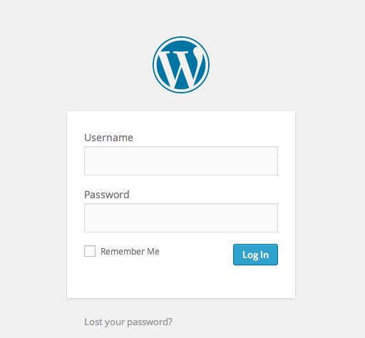WP Admin login