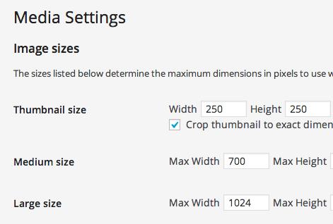 Default Image size