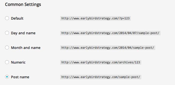 Permalinks in WordPress