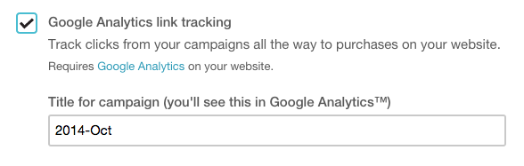 Google Analytics link tracking