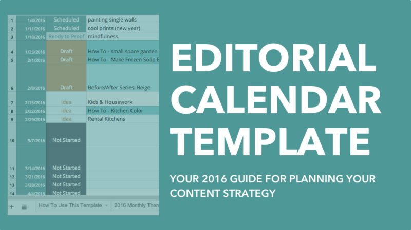 template to plan your content, grow your traffic, and save time in ...