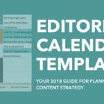 2018 Editorial Calendar Template