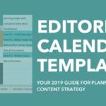 2019 Editorial Calendar Template