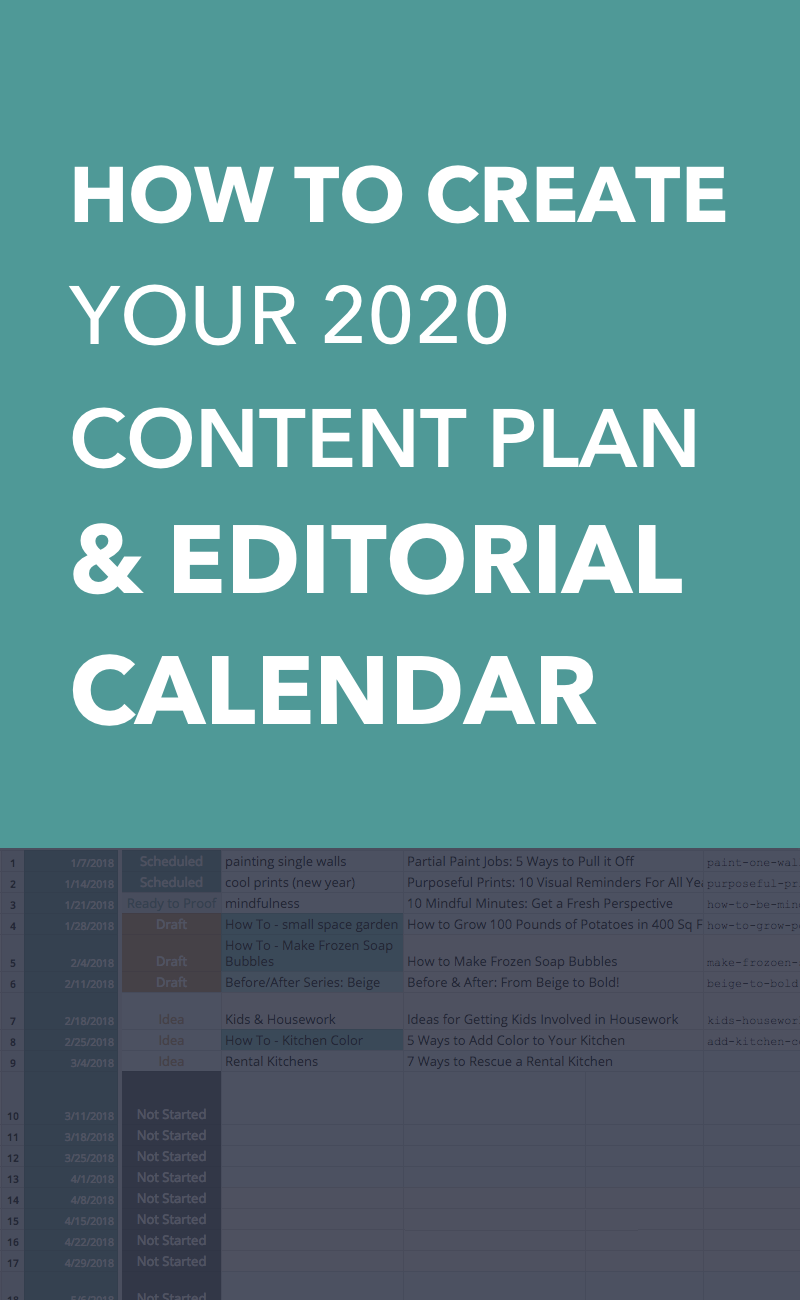 Content Plan Guide - How to Create your 2020 Editorial Calendar & Content Plan