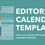2020 Editorial Calendar Template